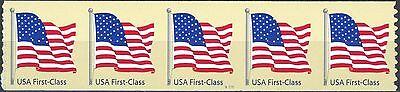 Us Flag On Tan Non Denominated Pnc5 Pl S1111 Mnh Scotts 4133                S2