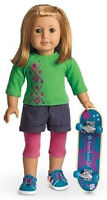 New in Box American Girl Skateboarding Set for Dolls