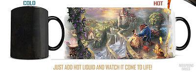Thomas Kinkade Beauty and the Beast Falling in Love Morphing Mug MMUG038 Disney