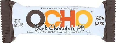 Chocolate Organic Candy Bar (Ocho Candy-DARK CHOCOLATE PEANUT BUTTER CANDY BAR (18-1.5)
