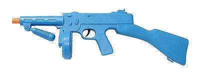 BLUE PLASTIC #FAKE MACHINE GUN ITALIAN MAFIA FANCY DRESS COSTUME ACCESSORY for sale  Shipping to Nigeria