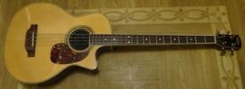 Vintage VCB 430N Electro-Acoustic Bass Guitar VGC (Hollow Semi Acoustic)