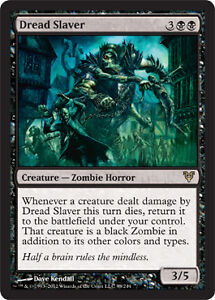 mtg Avacyn Restored 1x Dread Slaver x1 Magic the Gathering rare card zombie
