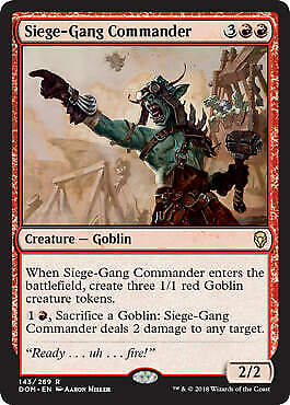 Siege-Gang Commander FOIL Magic 2010 M10 NM-M Red Rare MAGIC MTG CARD ABUGames