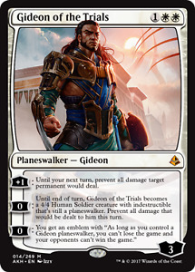 Magic the Gathering _ Gideon of the Trials _ mint card