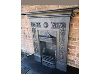 THE SHELL Victorian cast iron fire DELIVERY £25