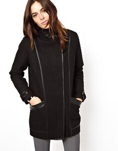 ASOS black wool coat