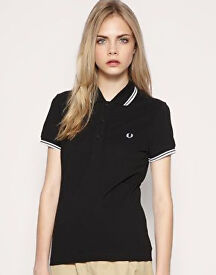 Black and White Fred Perry Polo Shirt
