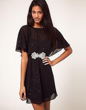 661a5130c2 ASOS Embellished Skater Dress | eBay