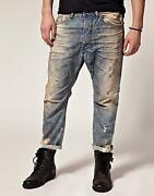 Mens Cropped Jeans