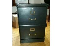 Black wooden filing cabinet