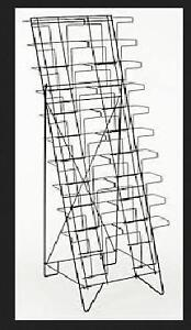 Wire magazine Racks Great display for comic books or car Mags