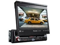 Panasonic 7 inch touch screen monitor, DVD / MP3
