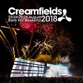 Creamfields festival 4 day standard camping ticket