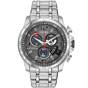CITIZEN MEN'S ECO-DRIVE RADIO CONTROLLED CHRONOGRAPH WATCH BY010