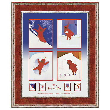 USPS New The Snowy Day Framed Art