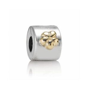 Authentic Pandora 2 tone flower clip