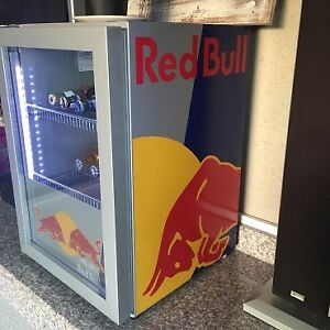 Red Bull Mini Fridge.