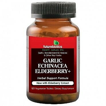 Garlic Echinacea Elderberry + Futurebiotics 120 Tabs - Futurebiotics Garlic Echinacea