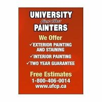 UNIVERSITY FIRST CLASS PAINTERS LOOKING FOR STUDENT MARKETERS