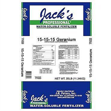Jacks Jr Peters 15-15-15 Germanium Fertilizer 25 lbs