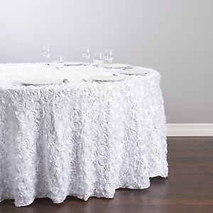 Rosette Satin Table cover - table cloth - Event decor - 10% off
