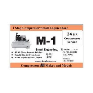 Air Compressor Sale Service Repair M-1 Small Engine 780-710-3353