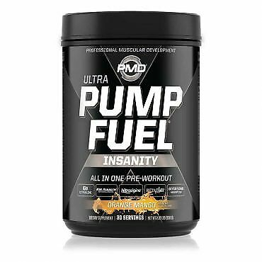 PMD ULTRA PUMP FUEL INSANITY  PRE WORKOUT -TROPICAL ORANGE MANGO EXP 10/22 -A