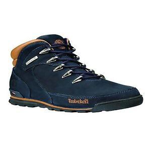 cb02fb1a01b Mens Timberland Blue Euro Rock Hiker Nubuck BOOTS Lace up Size 11 UK