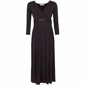 Brand new with tags JoJo Maman Bebe Black maternity maxi dress size small 8-10 RRP £49