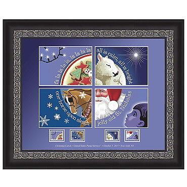USPS New Christmas Carol Framed Art