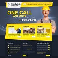 Brick, masonry, concrete business website design services