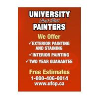 UNIVERSITY FIRST CLASS PAINTERS - FREE ESTIMATE