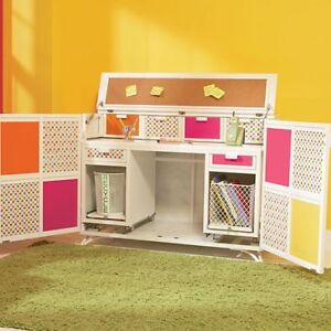Littlemissmatched Switcharooo storage with pull out desk