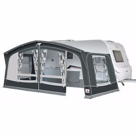 Dorema Octavia size 13 caravan awning 3 years old. Charcoal curtains included.