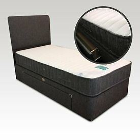 DIVAN BASE WITH UNDER BED DRAWERS COLOUR SINGLE SMALL DOUBLE 3FT 4FT6 AND 5FT MATTRESS HEADBOARD