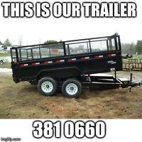 You fill - we haul - dump trailer rental service