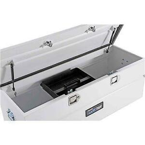 White Steel Toolbox Utility Chest 46