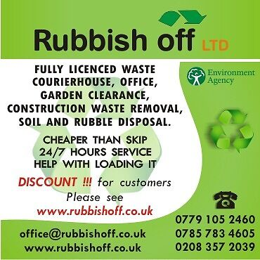 Rubbish clearance, removal, waste disposal, garden service,fence