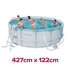 14ft 427cm Pool Bestway Above Ground Frame Swimming Pool Wolli Creek Rockdale Area Preview