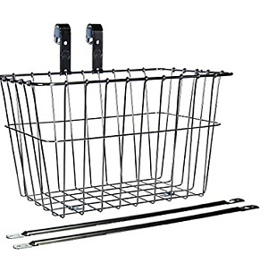 Wald 135 Front Grocery Bicycle Basket (14.5 x 9.5 x 9) Black
