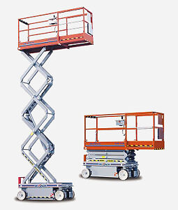 SJ3219 ELECTRIC INDOOR SCISSOR LIFT RENTAL $150
