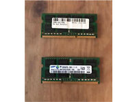 8GB PC3L Laptop RAM Chip (x 2)