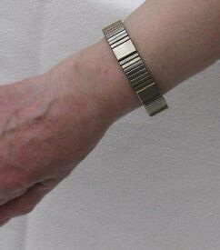 Magor vintage stainless steel and copper gents health bracelet