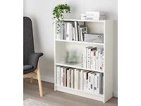 Selling IKEA Billy bookcase white. Size: 80x28x106 cm. Article no: 302.638.44 on IKEA website