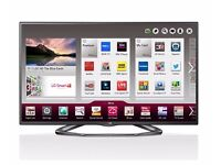 """LG 55"""" Smart LED 3D TV in original box with glasses and wall mount"""