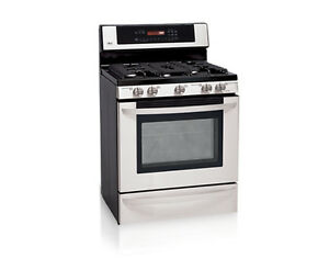 LG stainless steel Gas range Cambridge Kitchener Area image 2