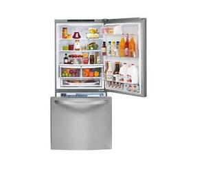 Réfrigérateur de 30 po, 22 pi. cube avec congélateur e