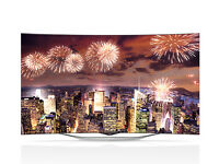 """As New LG 55EC930V - 55"""" Curved OLED Full HD 3D SMART TV with Freeview HD webOS & WiFi"""