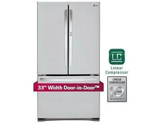 LG LFCS25663S 33 INCH, 25 CU. FT. FRENCH DOOR REFRIGERATOR DOOR IN DOOR